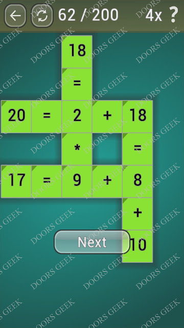 Math Games [Beginner] Level 62 answers, cheats, solution, walkthrough for android