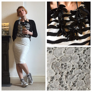 Zara skirt, Sainsburys top, Marni necklace