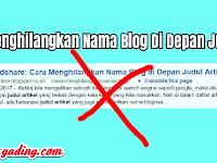 Cara Gampang Menghilangkan Nama Blog Di Depan Judul Artikel