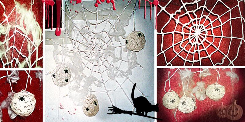 Planeta Virtual: Diy decoración Halloween 2: Telaraña, maraña y ...