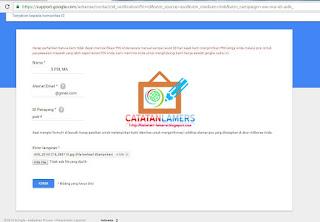 Verifikasi Adsense Manual menggunakan Scan ID (KTP/SIM)