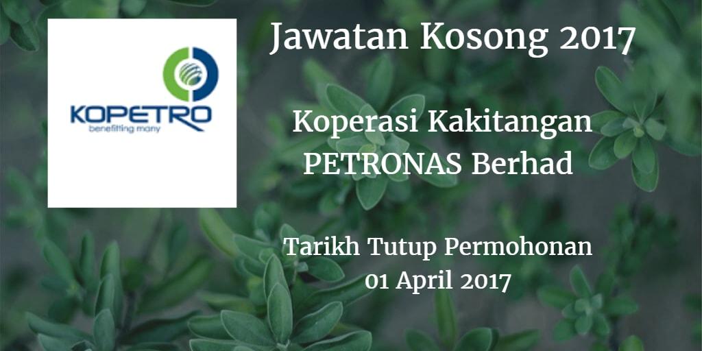 Jawatan Kosong KOPETRO 01 April 2017