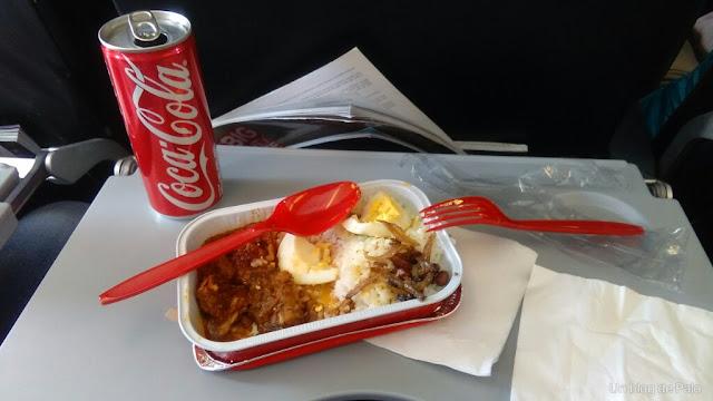 comida avion air asia compañia low costo asia