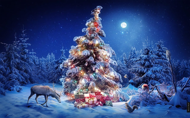christmas tree wallpaper in hd