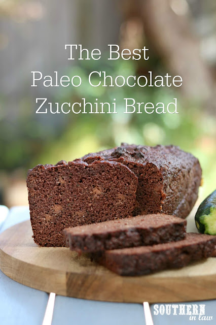 The Best Healthy Paleo Chocolate Zucchini Bread Recipe - low fat, gluten free, low sugar, refined sugar free, low carb, dairy free, grain free, paleo