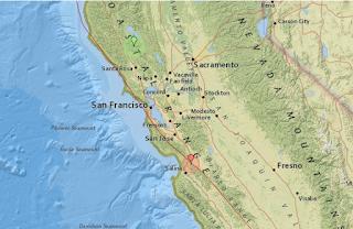 Földrengések Kaliforniában