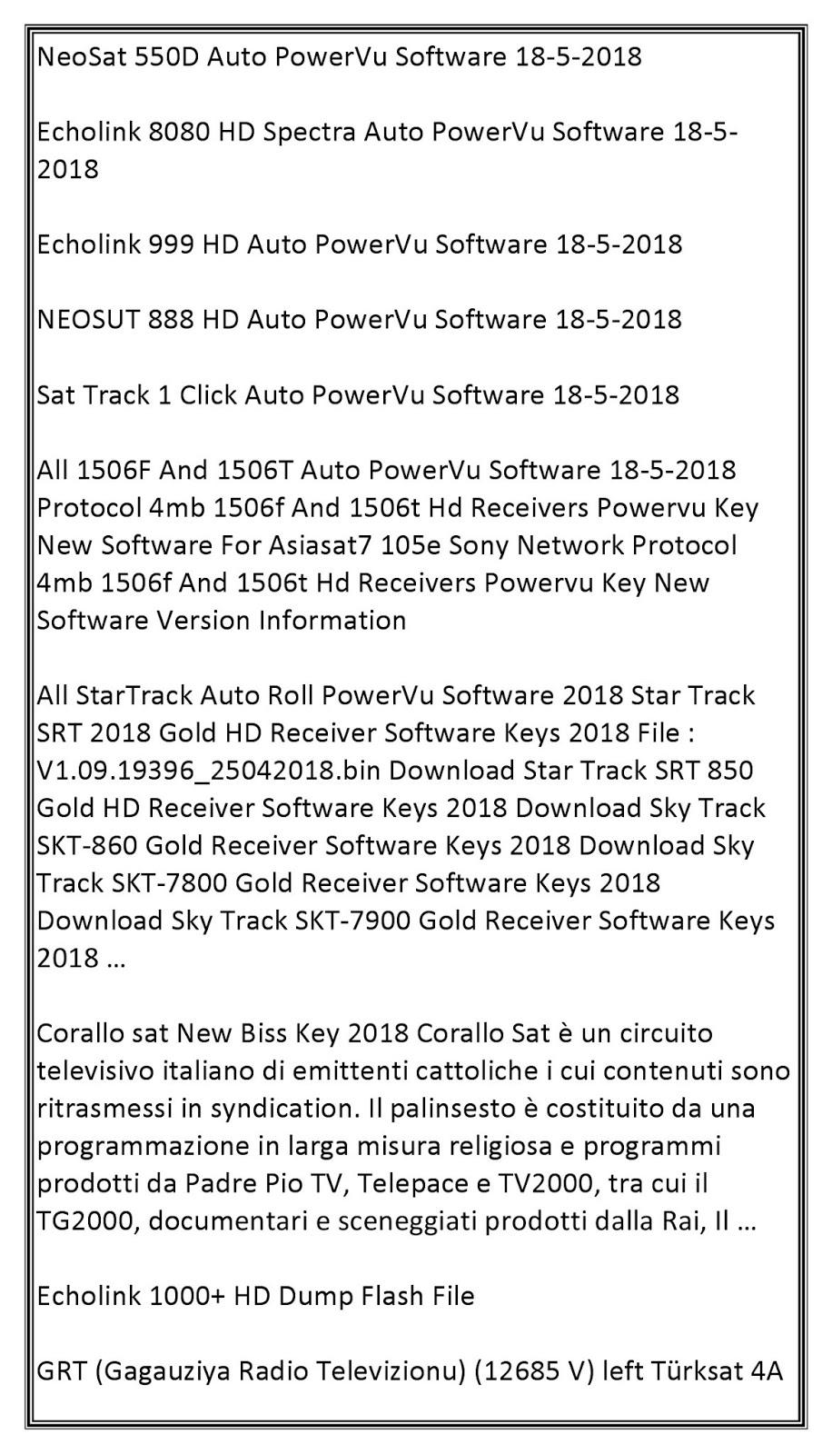 Satellite TV News: Satellite Television News 22-5-18