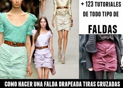Como hacer una Falda con tiras Cruzadas