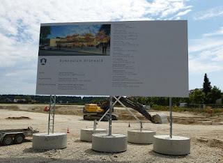 Bauplatz des neuen Gymnasiums Grünwald 2013