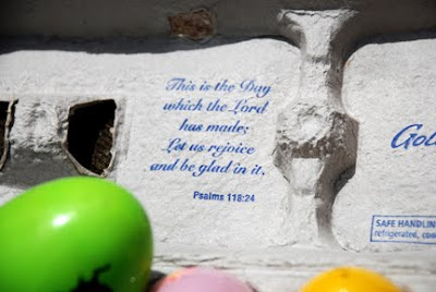 Aldi egg carton has bible verse on inside of it