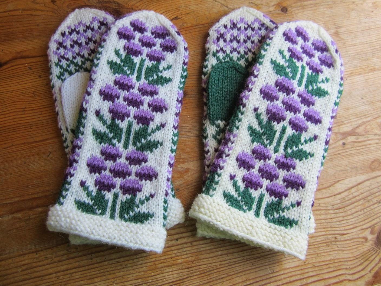 dbf44ce1a Marits hobbyblogg  Bringebærvotter   Raspberry mittens