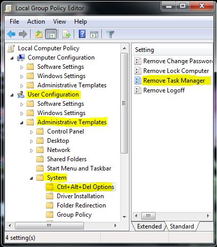 Open Task Manger Task Manager is Disabled by Your Administrator