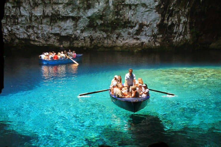 7. Melissani Cave, Kefalonia, Hellas (Greece) - Top 10 Mediterranean Destinations