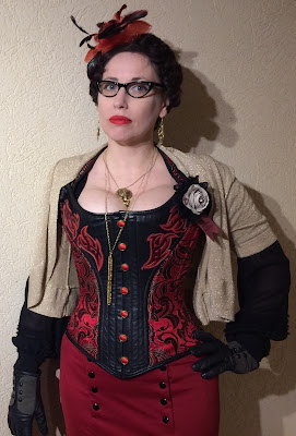 Gail Carriger Red & Black Steampunk at the Alaska Steamposium 2017