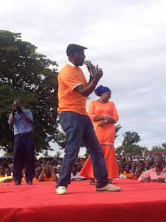 Victor Nyale in an ODM meeting during Madaraka day rally. PHOTO | Courtesy
