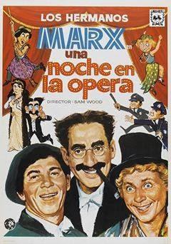 """21/Junio. Cine de Verano """"Una noche en la ópera"""". Béjar"""