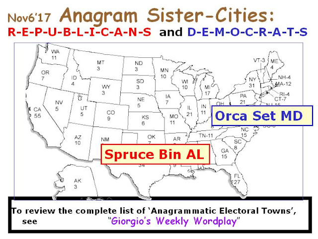 DEMOCRATS: Orca Set MD.  REPUBLICANS: Spruce Bin AL