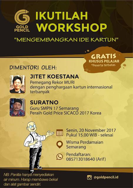 Workshop Pengembangan Ide Kartun Bersama Gold Pencil