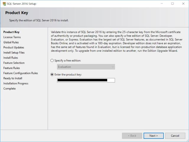SQL Server - Product Key