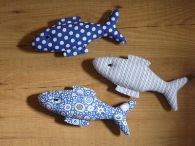 Freude am sticken: Drei Fische....