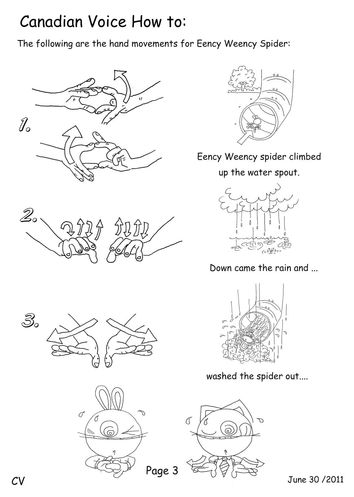 Canadian Voice English School Nagano Eency Weency Spider