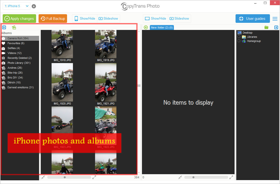 how to send pictures from computer to iphone