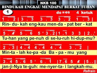 Lirik dan Kord Gitar NKB 100 Rindukah Engkau Mendapat Berkat Tuhan
