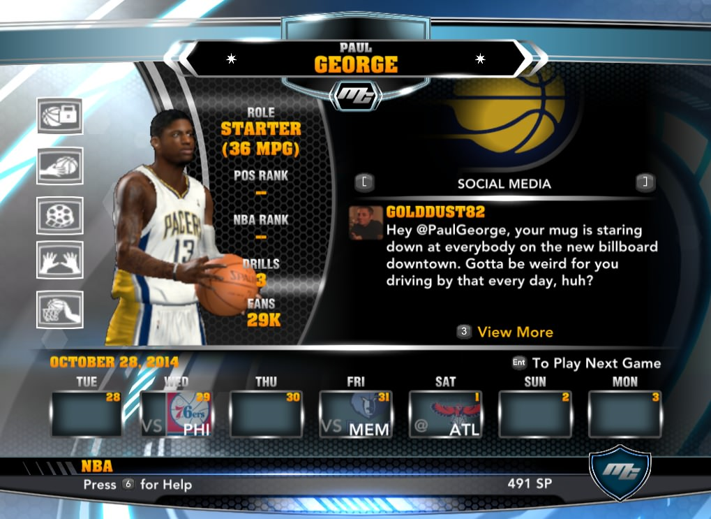 nba 2k14 Paul George mycareer patch download hoopsvilla