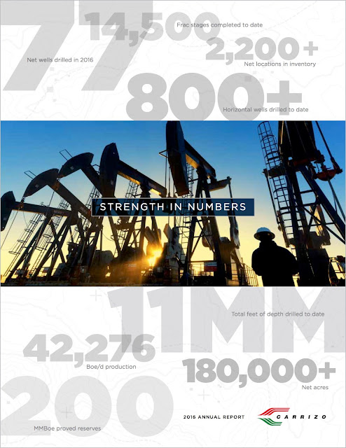 Carrizo Oil & Gas 2016 Annual Report | Axiom Creative Energy