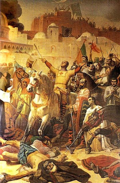 Tomada de Jerusalém. Emil Signol, Museu das Cruzadas, castelo de Versailles