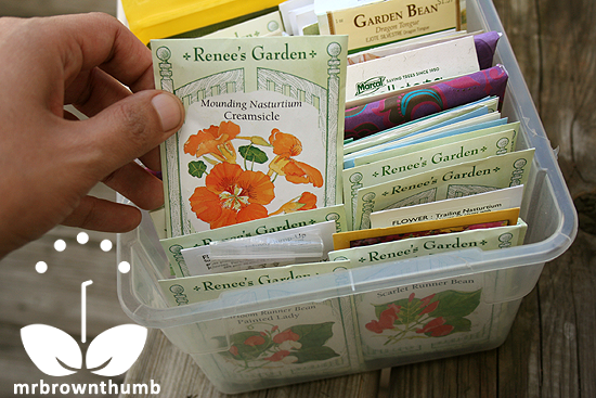 Make a seed organizer like the Seed Keeper to organize seed collection