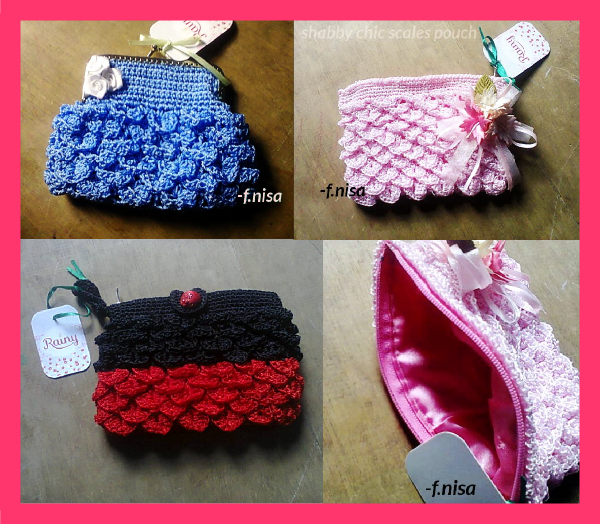 crochet crocodile stitch pouch purse