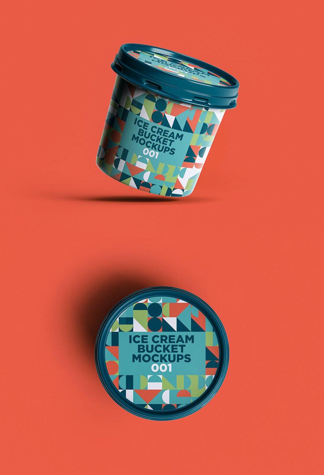 Ice Cream Bucket Mockups 001 Free Download