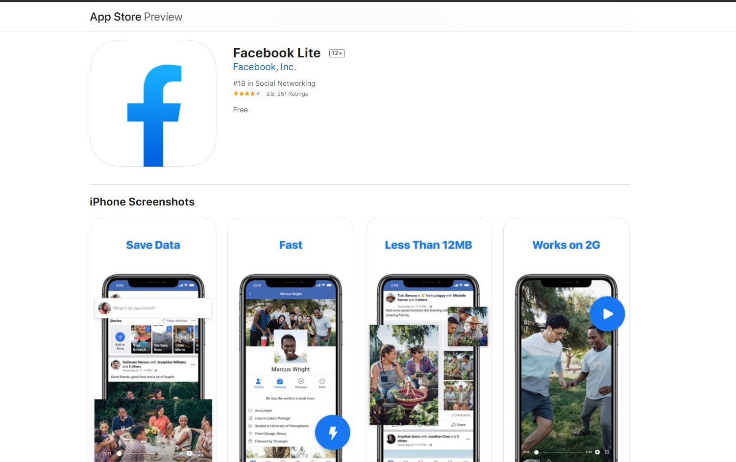 Facebook Is Quietly Taking Down Its Watered Down Version Facebook Lite From The Apple App Store Digital Information World Facebook lite is an official facebook client that lets you use this popular social network through a the first thing that stands out about facebook lite is that the app takes up about 250 kilobytes on. facebook lite from the apple app store