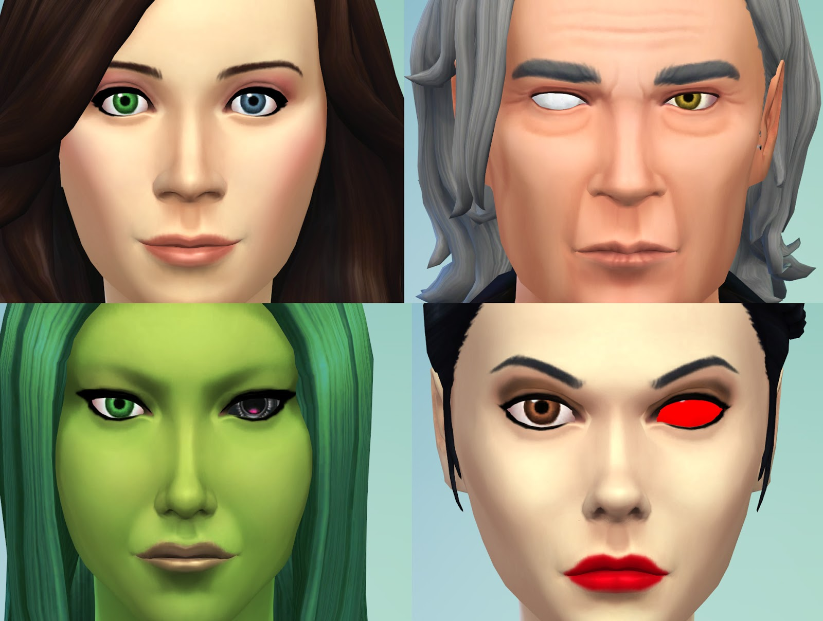 My Sims 4 Blog 2 Different Eyes Heterochromia Blind Eye
