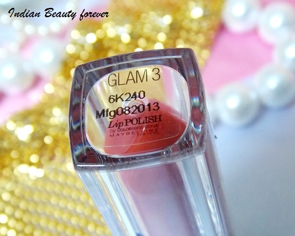 Maybelline Lip Polish india Glam 3 shades, Review, Photos and Swatches