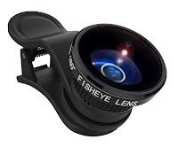 FishEye 3 obiettivi in 1 Grandangolo Micro Macro Lente zoom Iphone ios e Smartphone android