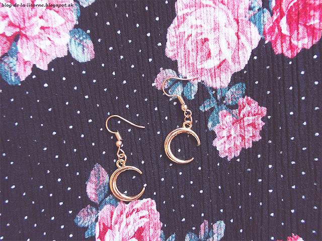 Moon Decorated Dangle Earrings