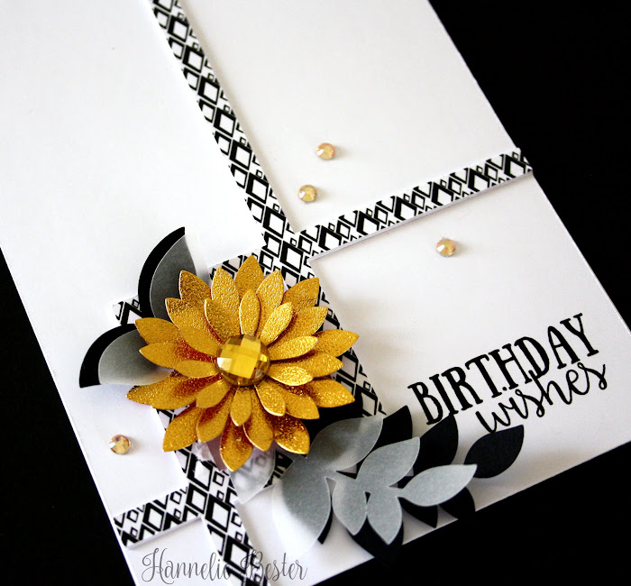framed flower birthday card