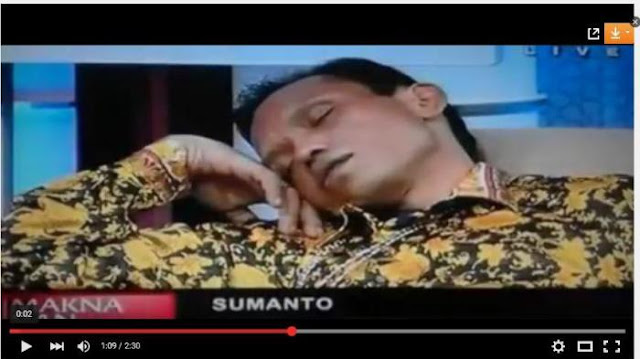 BAH ! Sumanto Si Manusia Kanibal Tidur Saat Jadi Narasumber TV