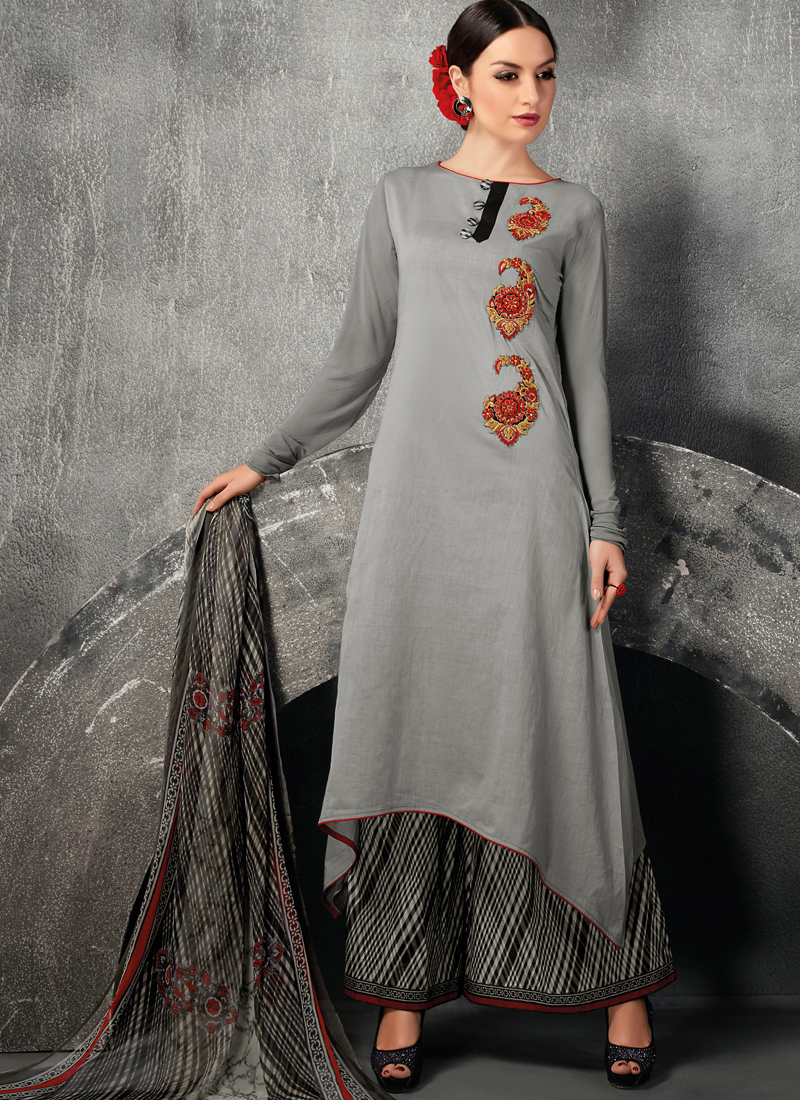 Shop online designer plazoo suits for party wear for Online suit builder