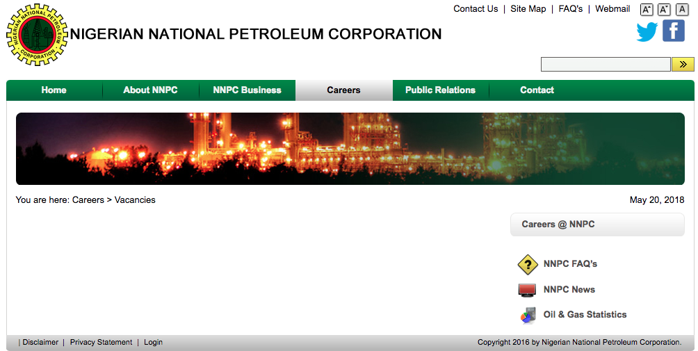 NNPC Recruitment Application Form 2018