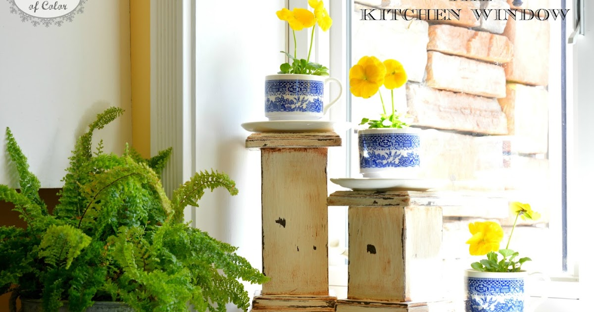 26 Windowsill Decoration Ideas: With A Dash Of Color: Decorating The Kitchen Window Sill