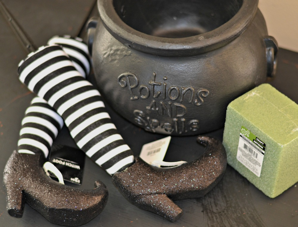 Easy Diy Witch Feet In Cauldron Halloween Decoration