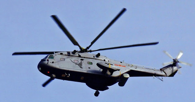 Z-18J airborne early warning helicopter was based on the Changhe Z-8 (Aérospatiale SA 321 Super Frelon)