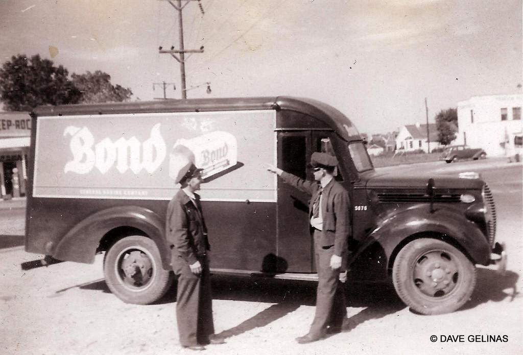 Bond Bread Truck Deep Rock Gas Station