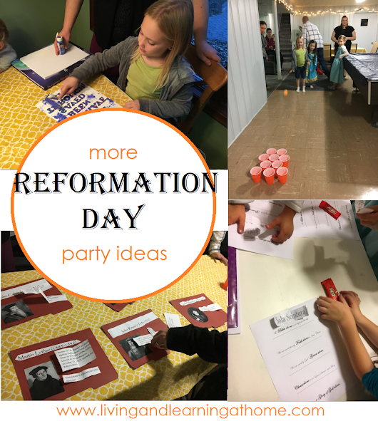 More Reformation Day Party Ideas