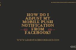 How do I adjust my Facebook mobile push notifications?