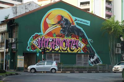 Mural di toko Water Front Kuching