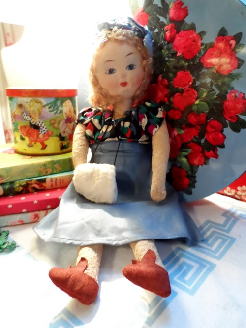 very pretty old rag doll